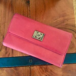 Leather Kenneth Cole Dark Rose Wallet Soft Silver